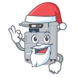 Santa copier machine next to character chair. Vector illustration stock illustration