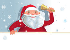 Santa with copy space Royalty Free Stock Photo