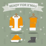 Santa costume preparing for Christmas. Stock Photography