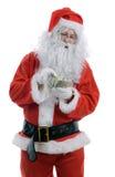 Santa counting Stock Image