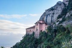 Santa Cova Chapel, abadia de Monterrat, perto de Barcelona, Espanha Fotos de Stock