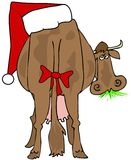 Santa Cow stock illustration
