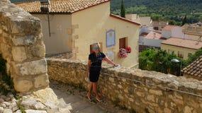 Santa Creu de Calafel κάστρο στοκ φωτογραφία με δικαίωμα ελεύθερης χρήσης