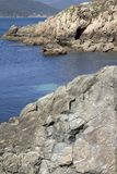 Santa Cristina Beach, Espasante, Galicie Photographie stock libre de droits