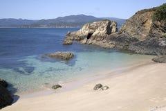 Santa Cristina Beach, Espasante, Galicie Image stock