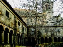 Santa Cristina de Ribas de Sil Monastery in Ourense - Spain royalty free stock photo