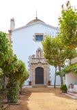 Santa Cristina Ermita hermitage in Lloret de Mar at Costa Brava. Of Catalonia Spain stock photo
