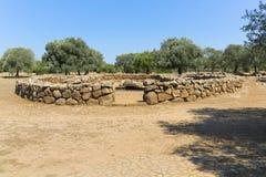 Santa Cristina Well Complex stock afbeelding