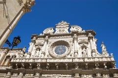 Santa Croce教会, Lecce, Apulia,意大利 免版税库存照片