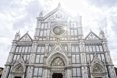 Santa Croce à Firenze, Italie Images stock