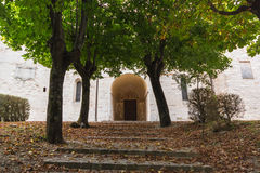 Santa Croce Abbey from outside Royalty Free Stock Photography