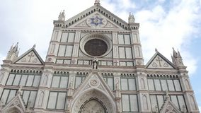 Santa Croce Basilica in the historic city center o Florence Santa Croce di Firenze - Tuscany. Santa Croce Basilica in the historic city center o Florence Santa stock footage