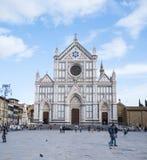 Santa Croce Basilica i den historiska centrumnollan Florence Santa Croce di Firenze - FLORENCE/ITALIEN - SEPTEMBER 12 Royaltyfri Fotografi