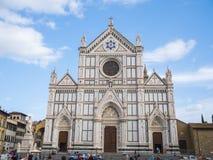 Santa Croce Basilica i den historiska centrumnollan Florence Santa Croce di Firenze - FLORENCE/ITALIEN - SEPTEMBER 12 Royaltyfri Foto
