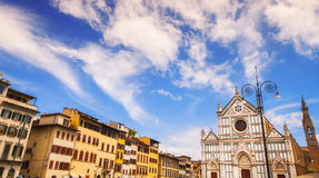 Santa Croce cathedral (Basilica of the Holy Cross) in Florence Royalty Free Stock Photo