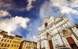 Santa Croce cathedral (Basilica of the Holy Cross) in Florence Royalty Free Stock Images
