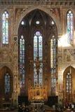 Santa Croce cathedral, Florence, internal detail Stock Photo