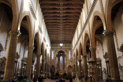 Santa Croce cathedral, Florence, internal detail Royalty Free Stock Photography