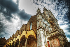 Santa Croce cathedral in hdr tone mapping effect Stock Photography
