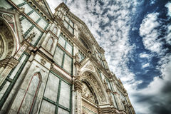 Santa Croce cathedral in hdr tone mapping effect Stock Photos