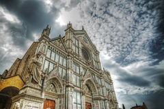Santa Croce cathedral in hdr tone mapping effect Royalty Free Stock Photography