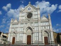 Santa Croce Cathedral i Florency, Italien arkivbilder