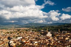 Santa Croce church and Florence Royalty Free Stock Photography