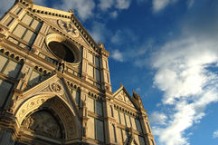 Santa Croce Church in Florence stock photo