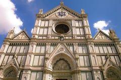 Santa Croce Church, Florence. Seen in summer 2012 Stock Photography