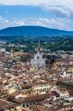 Santa Croce church. The Santa Croce church in florence Royalty Free Stock Photos