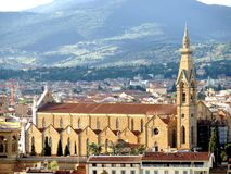 The Santa Croce church in Florence Stock Photos