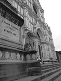 Santa croce church - Florence Royalty Free Stock Photography