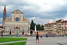 Santa Croce church, Florence Royalty Free Stock Photography