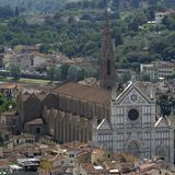 Santa Croce church, Florence Royalty Free Stock Photo