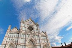 Santa Croce church and skies Stock Photos