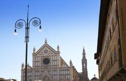 Santa Croce domkyrka florence italy Royaltyfria Bilder