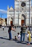 Santa Croce ed il burattino, Firenze, Italia Fotografie Stock Libere da Diritti
