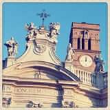 Santa Croce en el primer de Gerusalemme fotografía de archivo libre de regalías