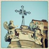 Santa Croce en los detalles de Gerusalemme fotos de archivo libres de regalías
