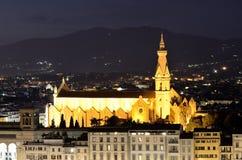 Santa Croce, Florença, Toscânia Imagem de Stock
