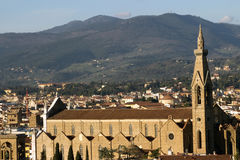 Santa Croce Florence in Tuscany, Italy Royalty Free Stock Image