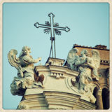 Santa Croce in Gerusalemme details Royalty Free Stock Photos