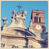 Santa Croce in Gerusalemme Nahaufnahme Lizenzfreie Stockfotografie