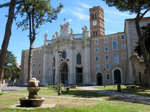 Basilica of the Holy Cross in Jerusalem, Rome Royalty Free Stock Photography