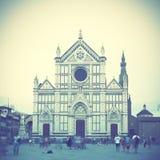 Santa Croce i Florence Fotografering för Bildbyråer