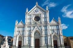 Santa Croce i Florence Italy Arkivfoton