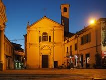 Santa Croce-Kirche in Settimo Torinese stockfotografie