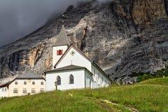 Santa Croce kościół - Val Badia Obraz Stock