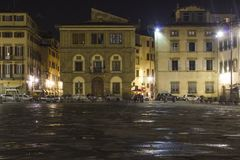 Santa croce kwadrat w Florencja Obrazy Royalty Free