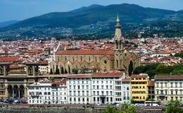 Santa Croce kyrka, Florence Arkivbilder
